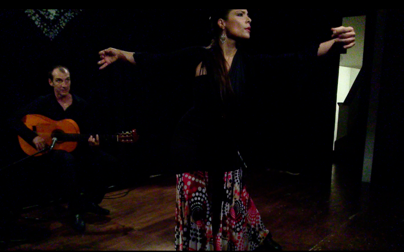 With guitarist Alfredo Millan, Noche Flamenca at Hojas de Té, Mexico City