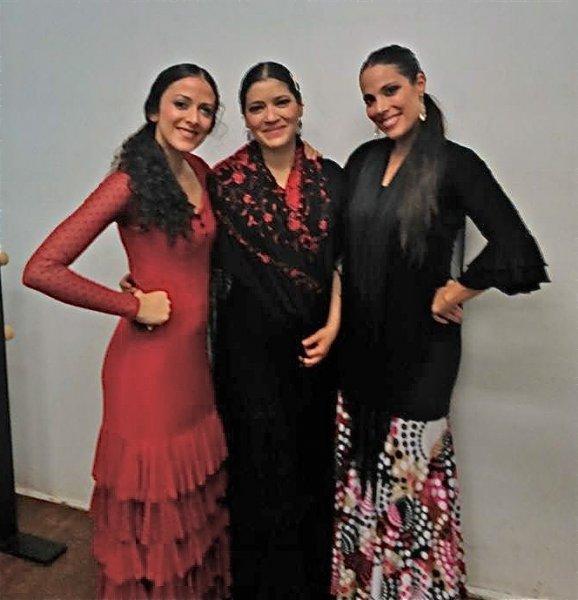 Nashieli Buelna, Marien Luevano & Eliza, Noche Flamenca at Hojas de Té, Mexico City