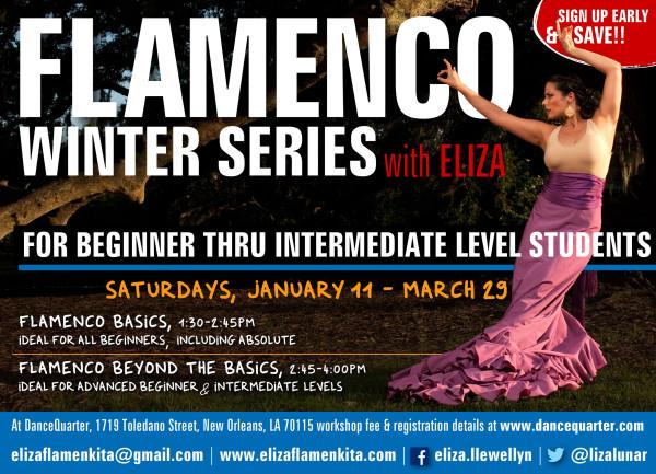 Flamenco Winter Series. NEW Beginner &  Intermediate Classes january 11 - march 29