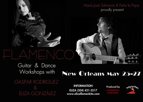 Flamenco Guitar & Dance Workshops with Gaspar Rodriguez & Eliza Gonzalez