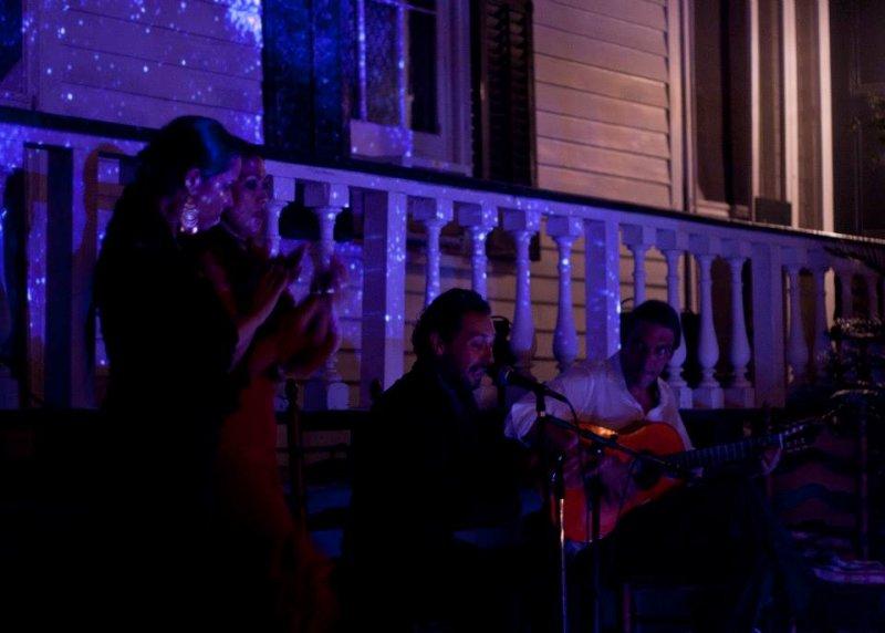 The cuadro: Eliza, Rhina, Javier & John