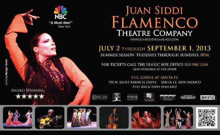 Juan Siddi Flamenco Theatre Company, Summer Season 2013 poster